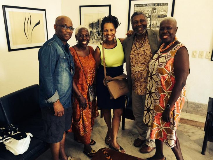 Michael Thompson with Donnette Cooper, Ifeona Fulani and Carolyn Cooper.